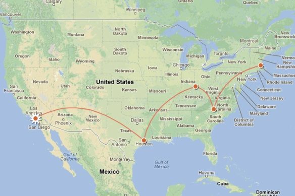 Clearly the most direct route to Boston, right?