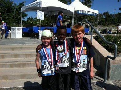 3 boys 3 medals