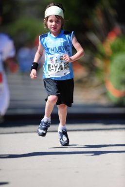 Vanilla running a kids run