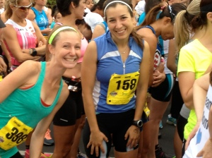 Margot and I at the starting line of the race.